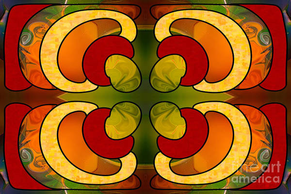 Digital Art - Centrally Located Abstract Art By Omashte by Omaste Witkowski