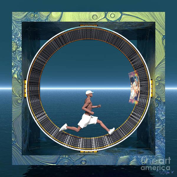 Digital Art - Human Wheel by Walter Neal