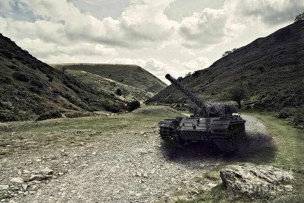 Old Main Wall Art - Photograph - Centurion Tank In Valley by Amanda Elwell