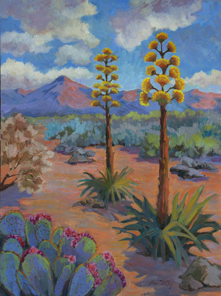 Wall Art - Painting - Century Plants 2 by Diane McClary
