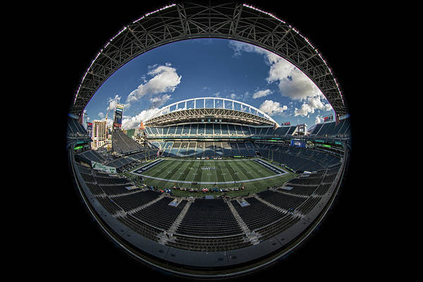 Sherman Photograph - Centurylink Field by Robert Hayton
