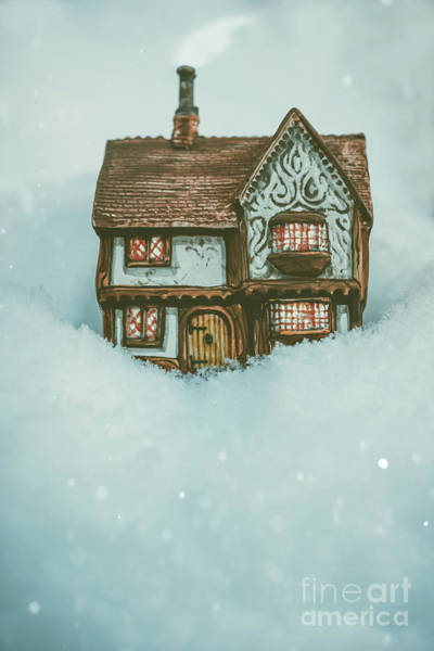 Wall Art - Photograph - Ceramic Cottage In Snow by Amanda Elwell