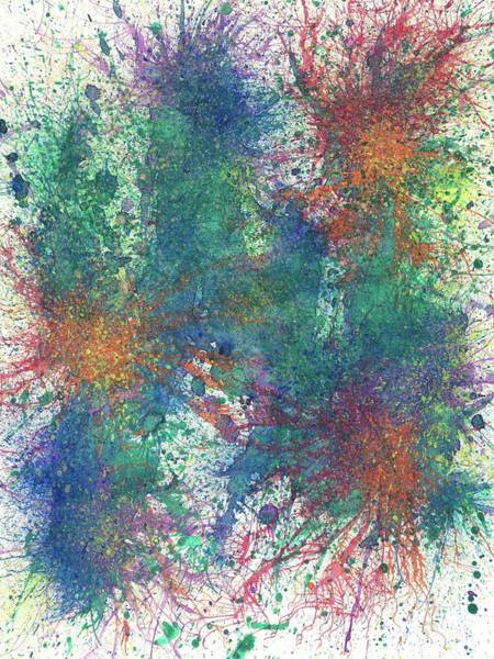 Brain Cell Painting - Cerebral Rhapsody During A Neurofeedback #581 by Rainbow Artist Orlando L