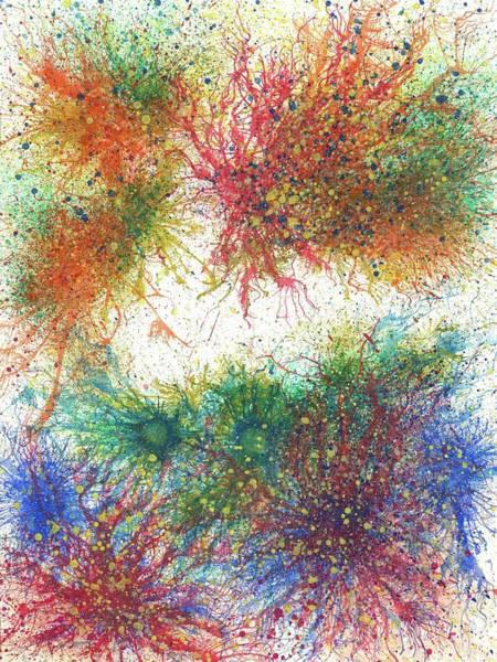 Brain Cell Painting - Cerebral Rhapsody During A Neurofeedback #583 by Rainbow Artist Orlando L