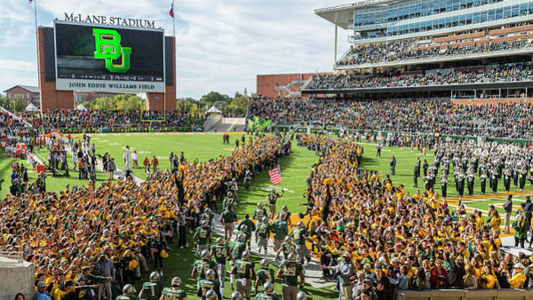 Wall Art - Photograph - Ceremonial Running Of The Baylor Line by Stephen Stookey