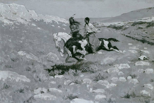 Painting - Ceremony Of The Fastest Horse by Frederic Remington