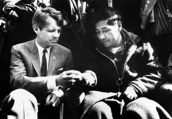 President Photograph - Cesar Chavez Ends His Hunger Strike by Everett