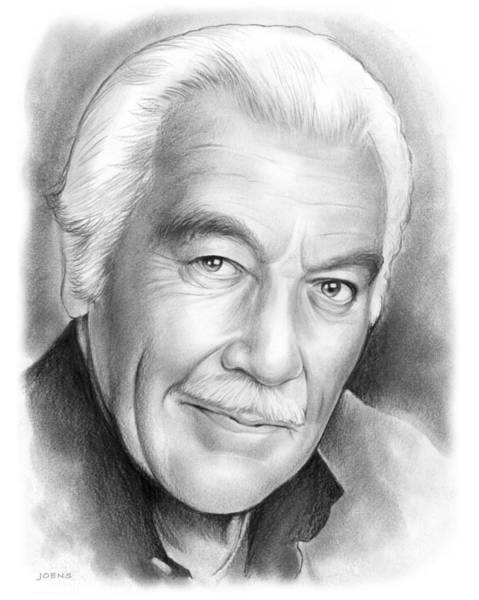 Cesar Wall Art - Drawing - Cesar Romero by Greg Joens