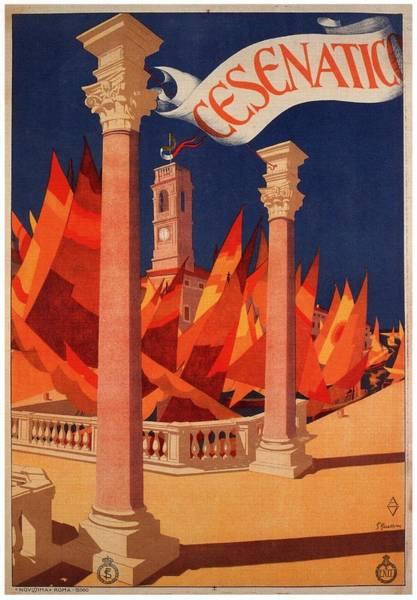Sailboat Mixed Media - Cesenatico, Italy - Retro Travel Poster - Vintage Poster by Studio Grafiikka