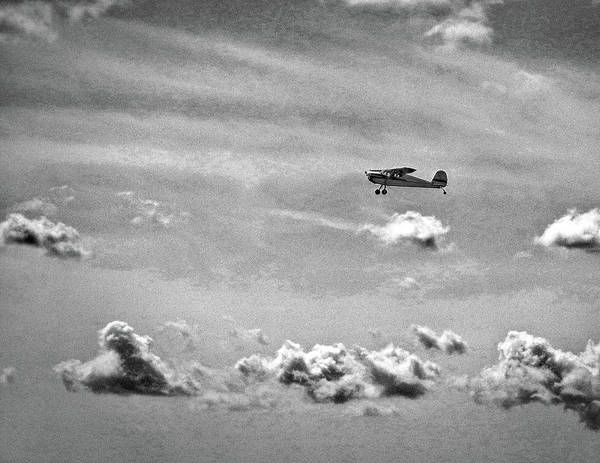 Photograph - Cessna 140 Departing Georgetown In Black And White by Bill Swartwout Photography