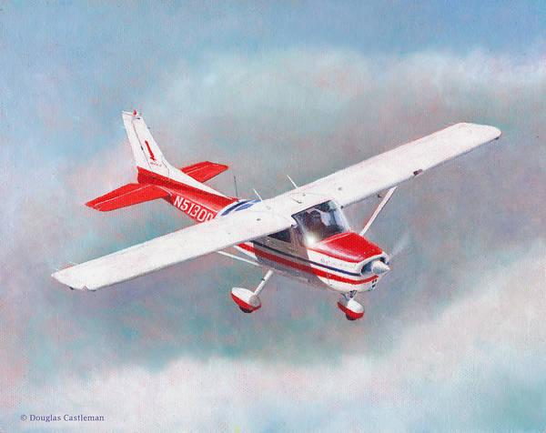 Painting - Cessna 172 by Douglas Castleman
