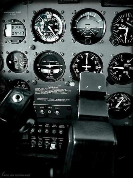 Single Wall Art - Photograph - Cessna 172sp Cockpit by Lamyl Hammoudi