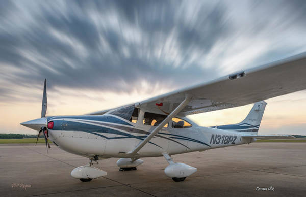 Photograph - Cessna 182 On The Ramp by Philip Rispin