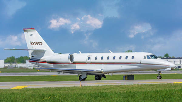 Photograph - Cessna 680 N320qs by Guy Whiteley