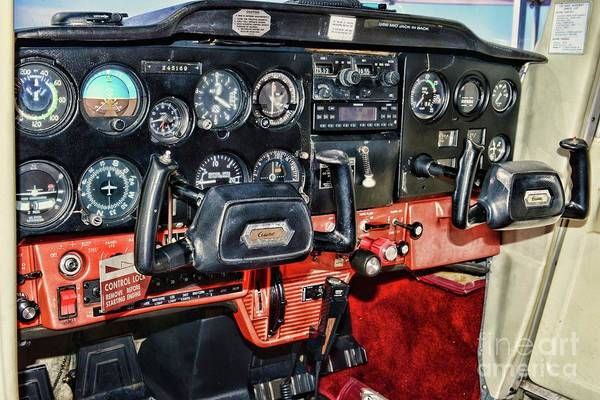 Wall Art - Photograph - Cessna Cockpit by Paul Ward