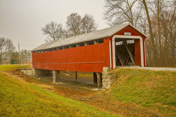 Photograph - Ceylon Covered Bridge by Jack R Perry