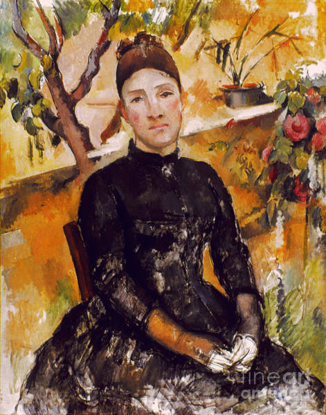 Photograph - Cezanne: Mme Cezanne, 1890 by Granger