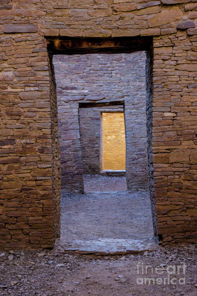 Photograph - Chaco Canyon - Pueblo Bonito Doorways 2 - New Mexico by Gary Whitton