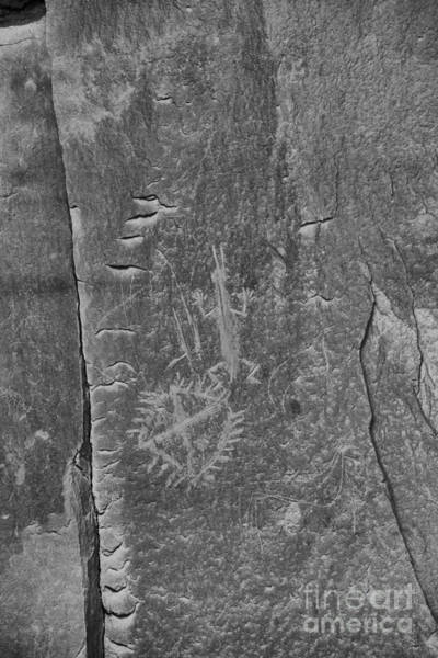Photograph - Chaco Petroglyph Figures Black And White by Adam Jewell