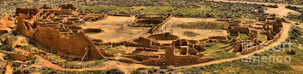 Photograph - Chaco Pueblo Bonito Panorama by Adam Jewell