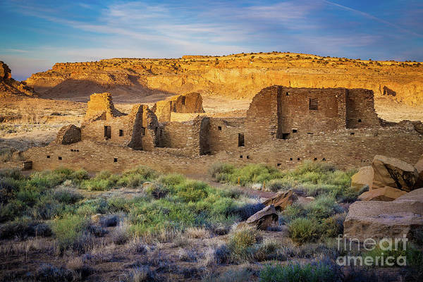 Ancient America Photograph - Chaco Ruins by Inge Johnsson