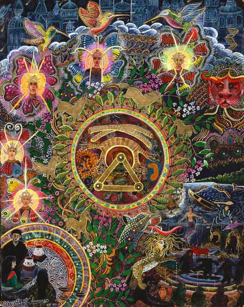 Painting - Chacruna Versucum 2007 Version  by Pablo Amaringo