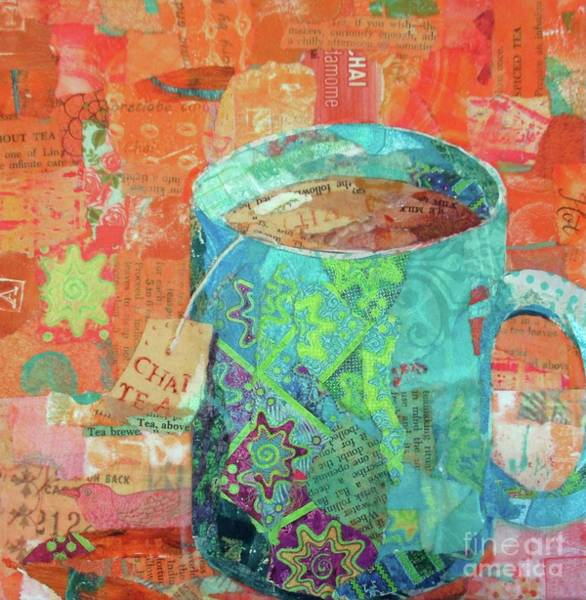 Teal Mixed Media - Chai Tea by Patricia Henderson