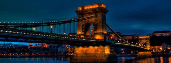 Buda Photograph - Chain Bridge Across The River Danube In Budapest by Joe Houghton