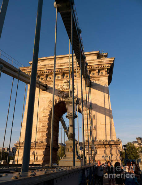 Photograph - Chain Bridge Budapest  by Brenda Kean