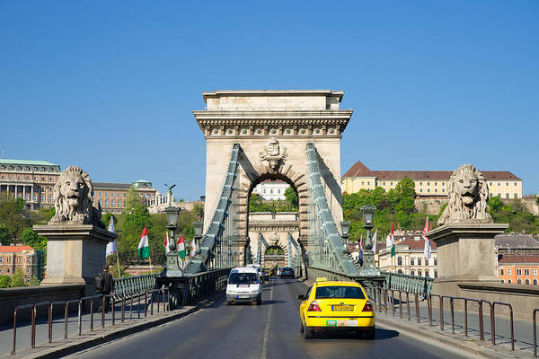 Photograph - Chain Bridge Budapest Hungary by Matthias Hauser
