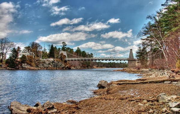 Photograph - Chain Bridge On The Merrimack by Wayne Marshall Chase
