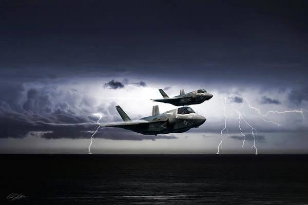 Wall Art - Digital Art - Chain Lightning by Peter Chilelli