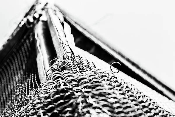 Photograph - Chain Link Fence Abstract by John Williams
