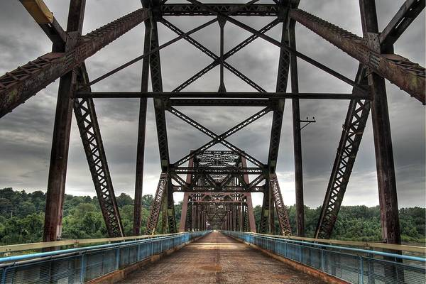 Wall Art - Photograph - Chain Of Rocks Bridge Route 66 by Jane Linders