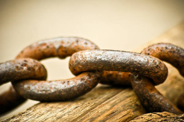 Photograph - Chain Of Rust by Carolyn Marshall
