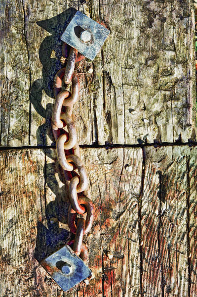 Rusty Chain Photograph - Chain by Tom Gowanlock