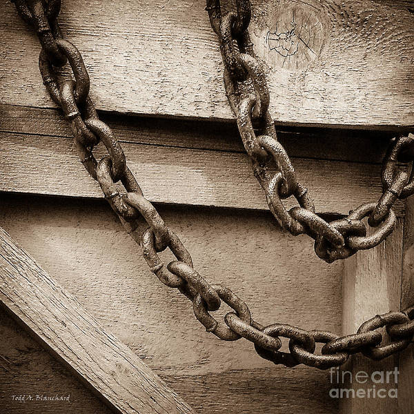 Photograph - Chains by Todd Blanchard