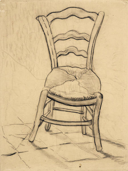 Rocking Chairs Painting - Chair, 1890 by Vincent Van Gogh