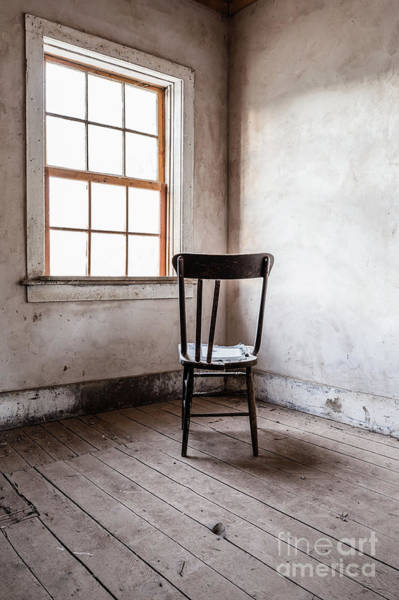 Ghost Town Photograph - Chair By The Window Grafton Ghost Town by Edward Fielding