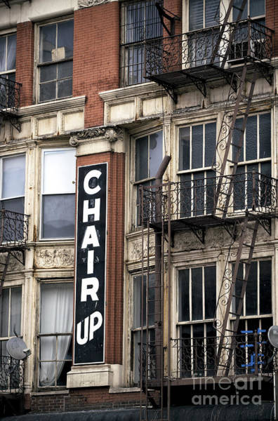Photograph - Chair Up by John Rizzuto