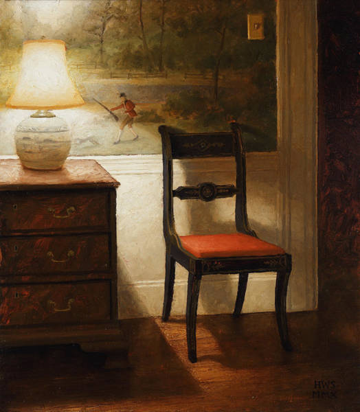 Painting - Chair With Wallpaper by Harry Steen