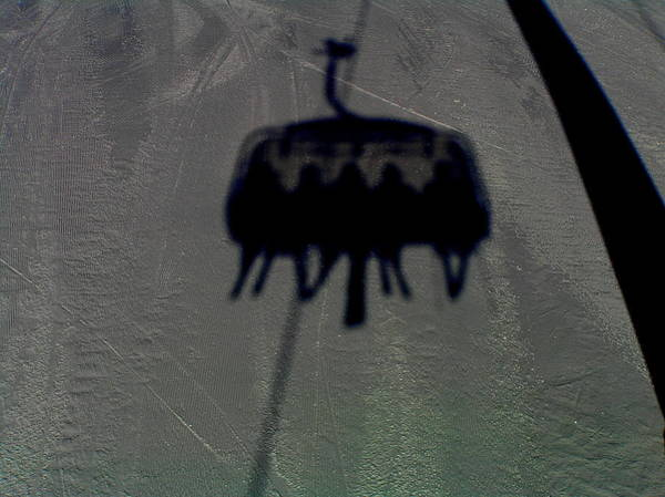 Chairlift Shadow Art Print