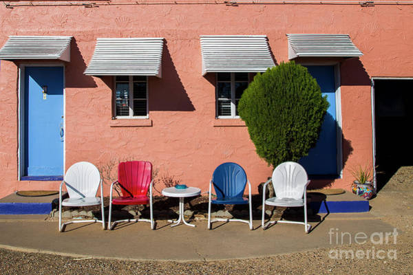 Wall Art - Photograph - Chairs At The Blue Swallow by Twenty Two North Photography