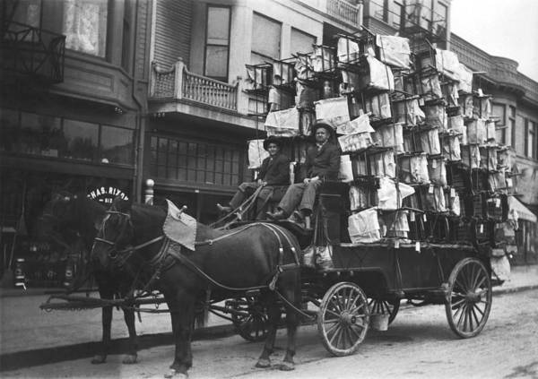 Wall Art - Photograph - Chairs Delivered By Wagon by Underwood Archives