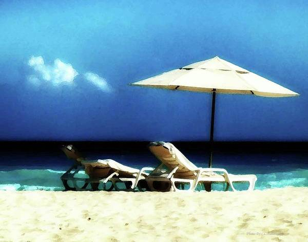 Photograph - Chairs On A Beach by Coleman Mattingly