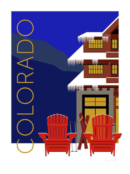 Digital Art - Colorado Chairs by Sam Brennan