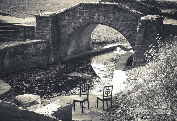 Wall Art - Photograph - Chairs - Stone Bridge by Colleen Kammerer