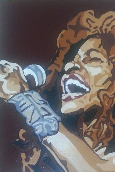 Jazz-funk Painting - Chaka Khan by Rachel Natalie Rawlins