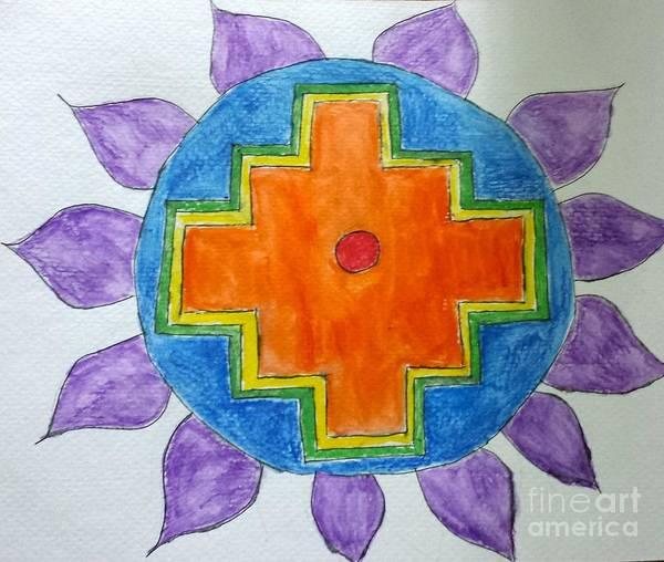 Chakana Inka Cross Art Print