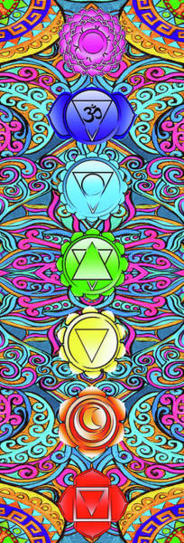 Wall Art - Painting - Chakra, Tantra, Yoga,  by Stephen Humphries